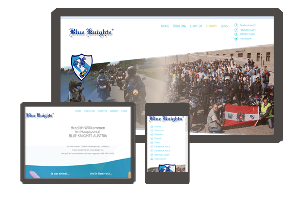 Betreuung Blue Knights Webportal