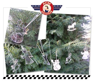 Weihnachtsbaum Anhänger aus Holz & Acrylglas